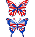 usa butterflys vector image