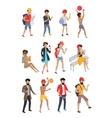 Big Set Summer People Characters vector image