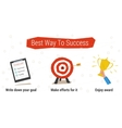 Best Way To Success Infographics vector image