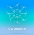 Contour ad layout for quadrocopter vector image