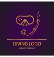 diving logo vector image