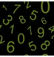 Endless pattern numbers with stripes vector image