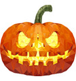 halloween pumpkin low poly vector image