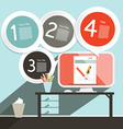Office Infographics Template - Layout with vector image
