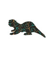 otter mammal color silhouette animal vector image