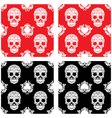 Playing Card and Skull Ornamental Pattern vector image