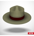 Ranger hat khaki green color vector image