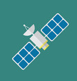 satellite in flat style vector image