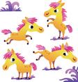 Set of cute cartoon pony vector image
