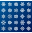 Snowflakes set icns vector image
