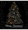 Stylized Christmas tree made of snowflakes vector image
