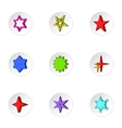 Star icons set cartoon style vector image