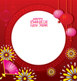 Chinese New Year Frame vector image