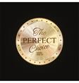 Golden label premium quality vector image