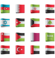 Flags - asia vector image