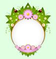 floral spring decoration vector image