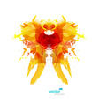 Abstract colorful splash reminding creature vector image vector image