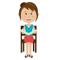 teacher avatar girl reading graphic vector image