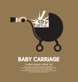 Baby Carriage In Hand vector image