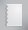 Blank realistic spiral notebook vector image