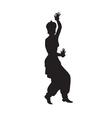 Ethnic dance of indian girl vector image