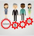 flat style modern effective process teamwork vector image