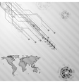 Hi-tech grey background vector image