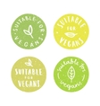 Suitable for vegans Set of vegan hand drawn vector image