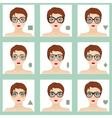 Female face shapes set vector image