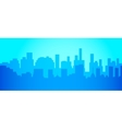 City skyline in minimalist style Silhouette vector image