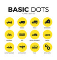 cars flat icons set vector image