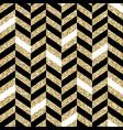 seamless chevron pattern glittering golden vector image