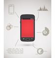 Smart phone inforgraphic vector image vector image