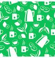 tea breack pattern green vector image vector image