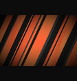 abstract background with black and orange lines vector image