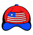baseball in the usa flag colors icon cartoon vector image