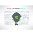 business infographic template with a lamp vector image
