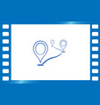flat route location icon concept of path or road vector image