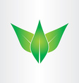 green leaves eco concept icon design vector image