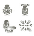 pickles logo templates vector image