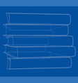 stack of books sketch vector image