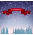 Merry Christmas Landscape in Purple Shades vector image