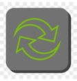 Refresh Arrows Rounded Square Button vector image