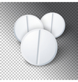 Photorealistic Medicine Pill Pharmacy Advertizing vector image vector image