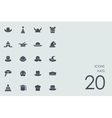 Set of hats icons vector image