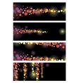 color leaflet glamorous nights vector image