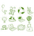 Eco-friendly designs vector image vector image