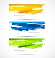 Set of banners with lines vector image vector image