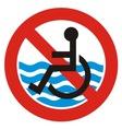 no access beach vector image