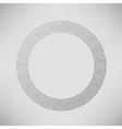 Greek Ornamental Circle Frame vector image